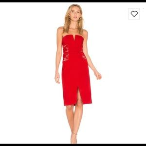 Sexy red dress by RSVP B.B. Dakota